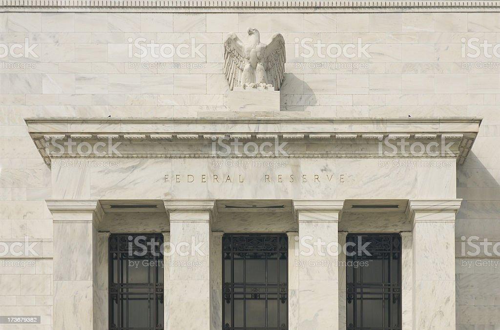 Federal Reserve Facade stock photo
