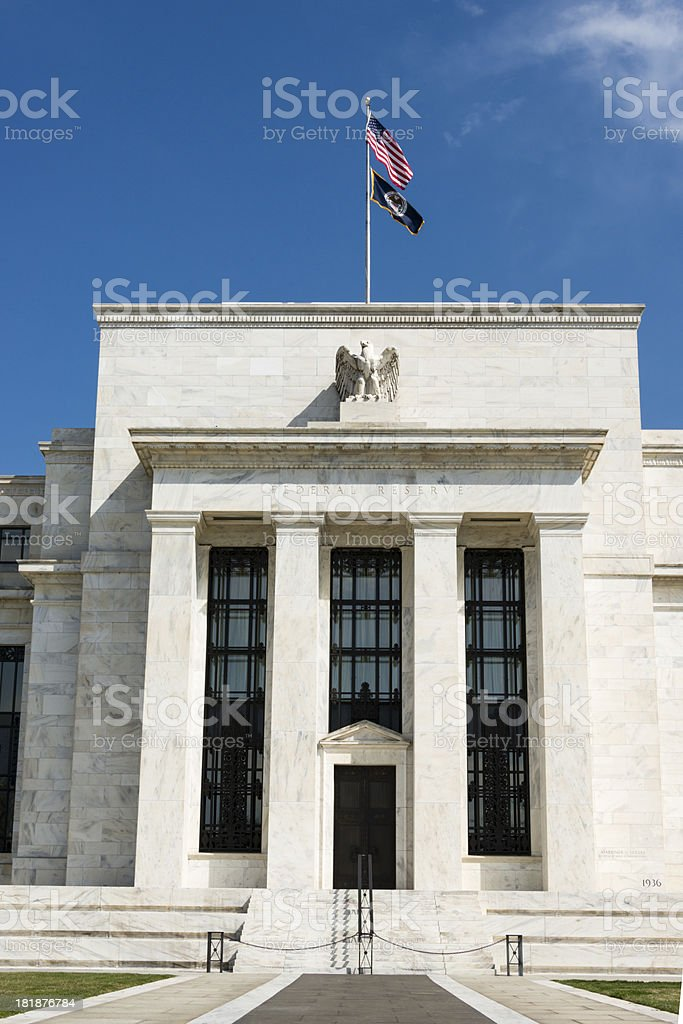 US Federal Reserve in Washington DC royalty-free stock photo