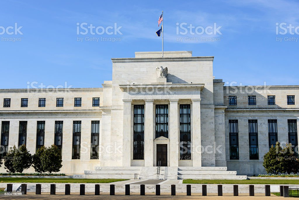 US Federal Reserve in Washington DC stock photo