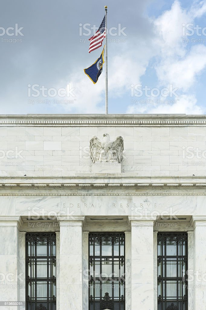 US Federal Reserve in Washington stock photo