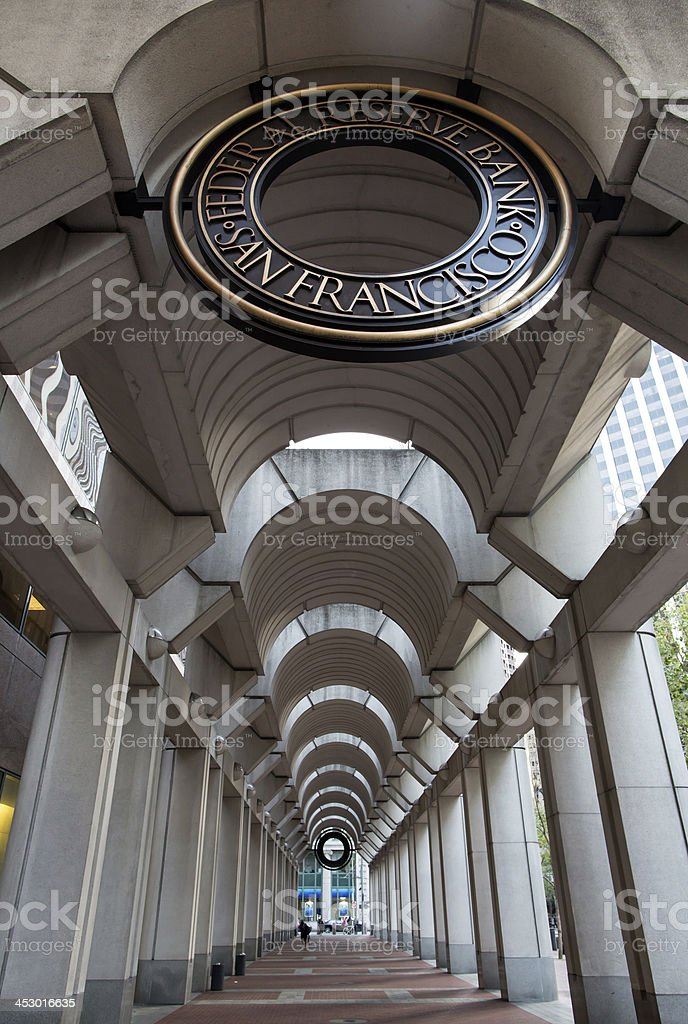 Federal Reserve of San Francisco royalty-free stock photo