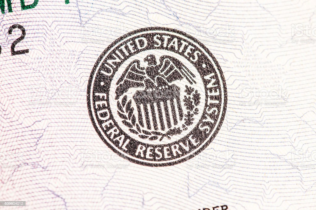Federal Reserve Seal stock photo