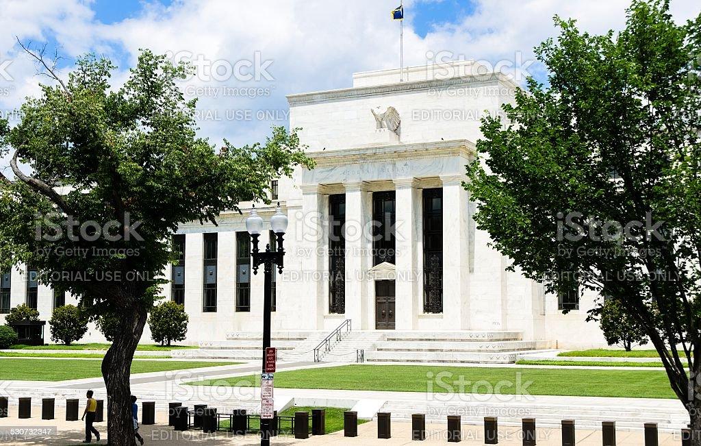 Federal Reserve, Washington DC stock photo