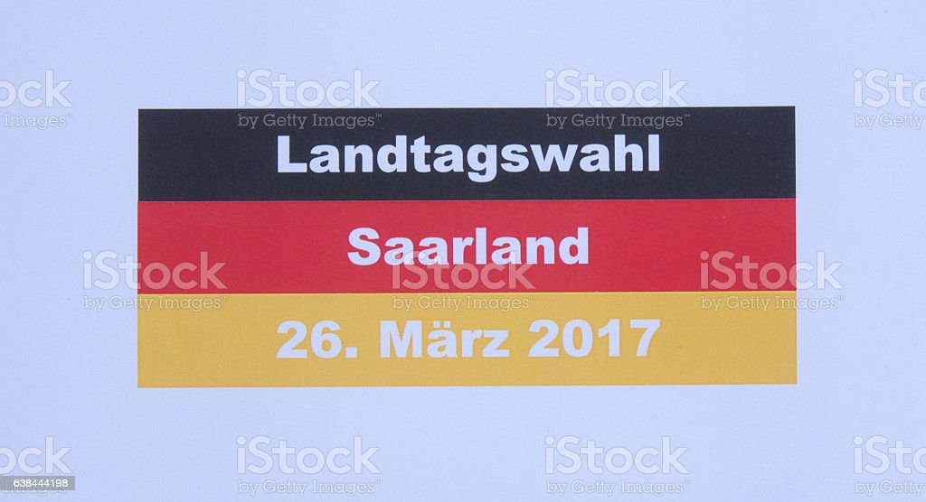 federal state elections of Saarland stock photo