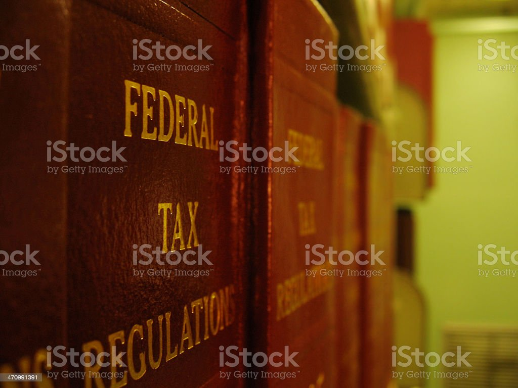 Federal Tax Regulations stock photo