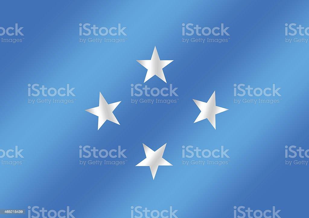 Federated States of Micronesia flag themes idea stock photo