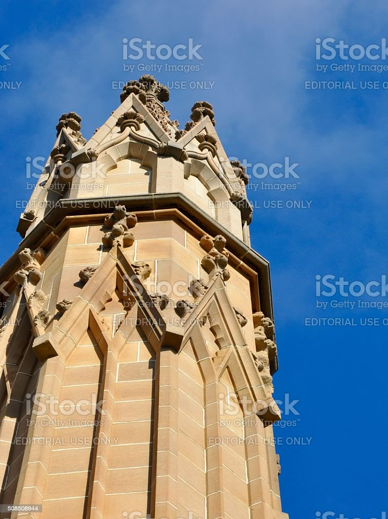 Federation Gothic: Buttress stock photo
