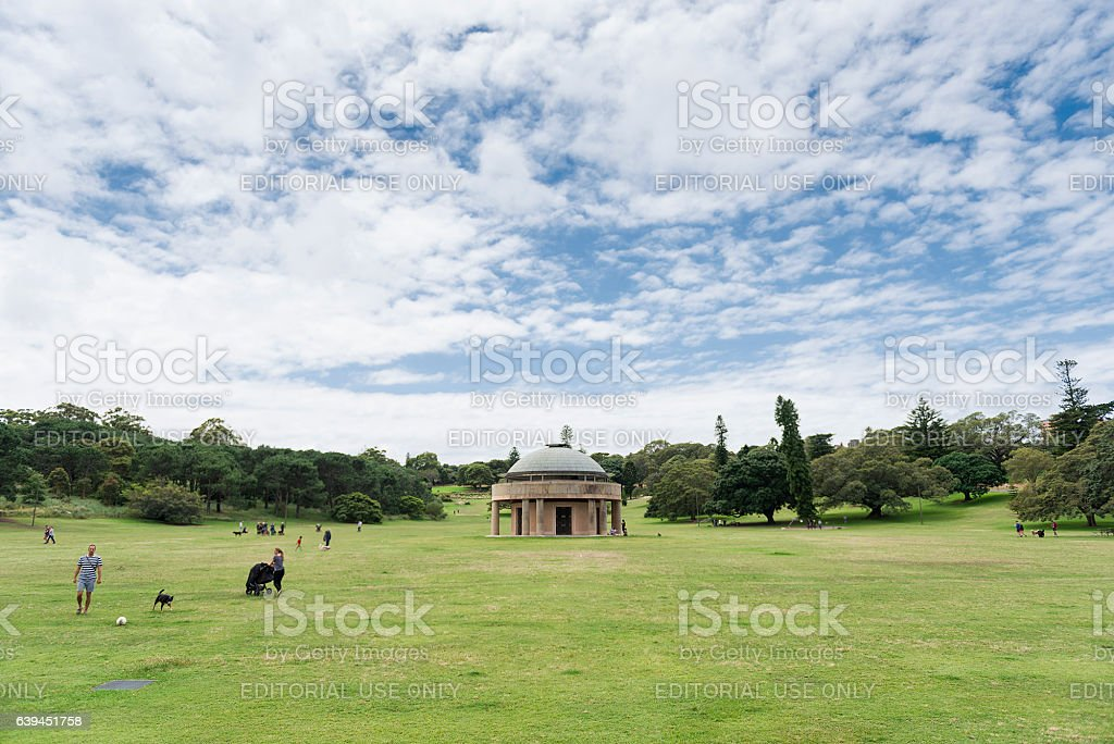Federation Pavilion and Centennial Park stock photo