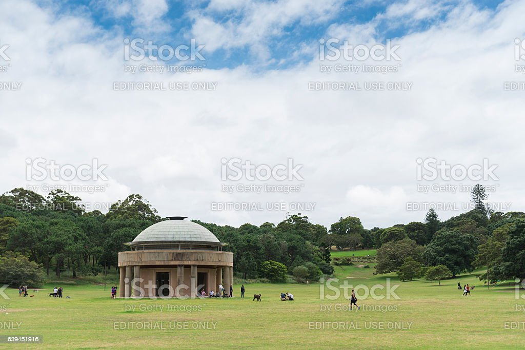 Federation Pavilion at Centennial Park Sydney stock photo