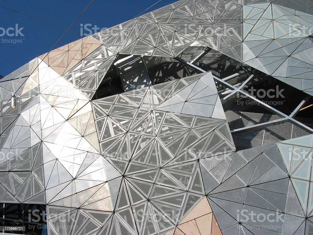 Federation Square Detail royalty-free stock photo