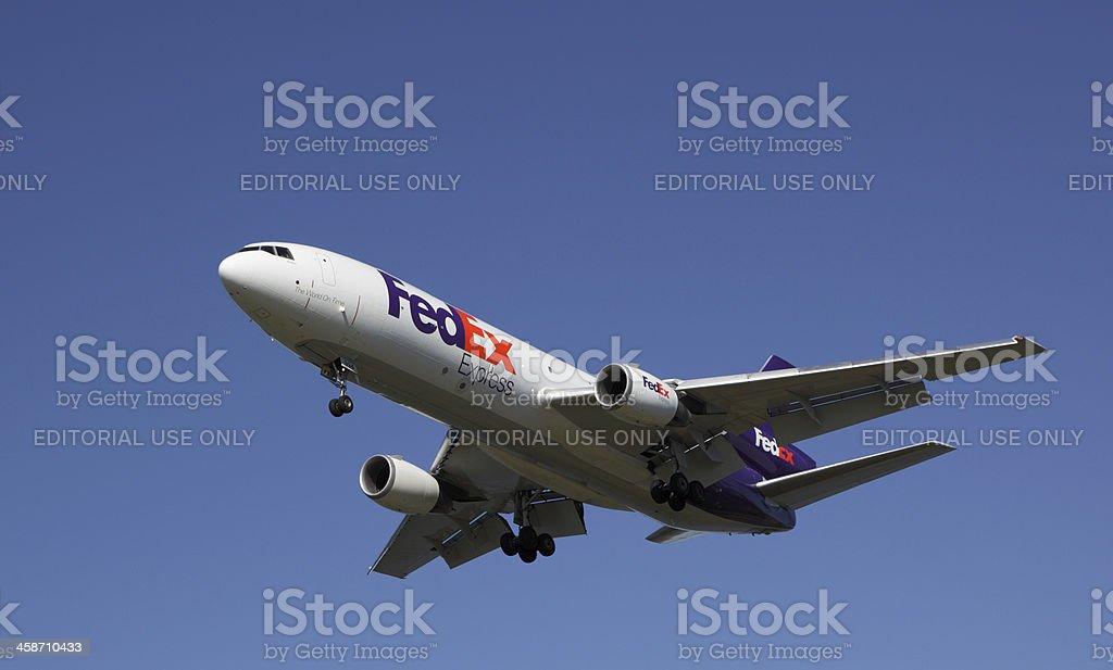 FedEx DC-10 stock photo