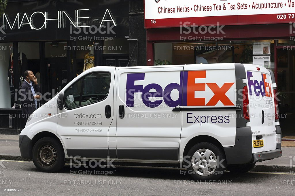 FedEx Delivery stock photo