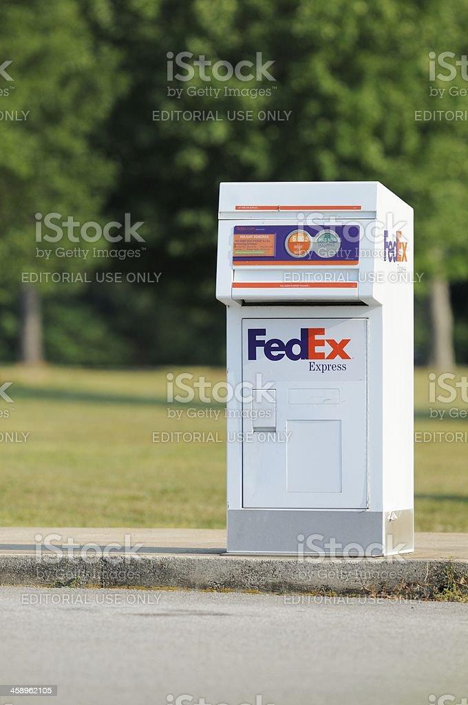 FedEx drop box royalty-free stock photo