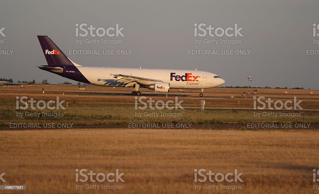 FedEx Express Cargo Jet stock photo