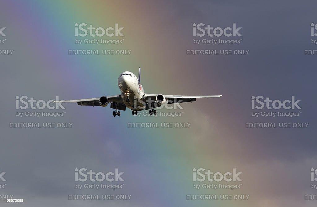 FedEx Express DC-10 Rainbow. stock photo