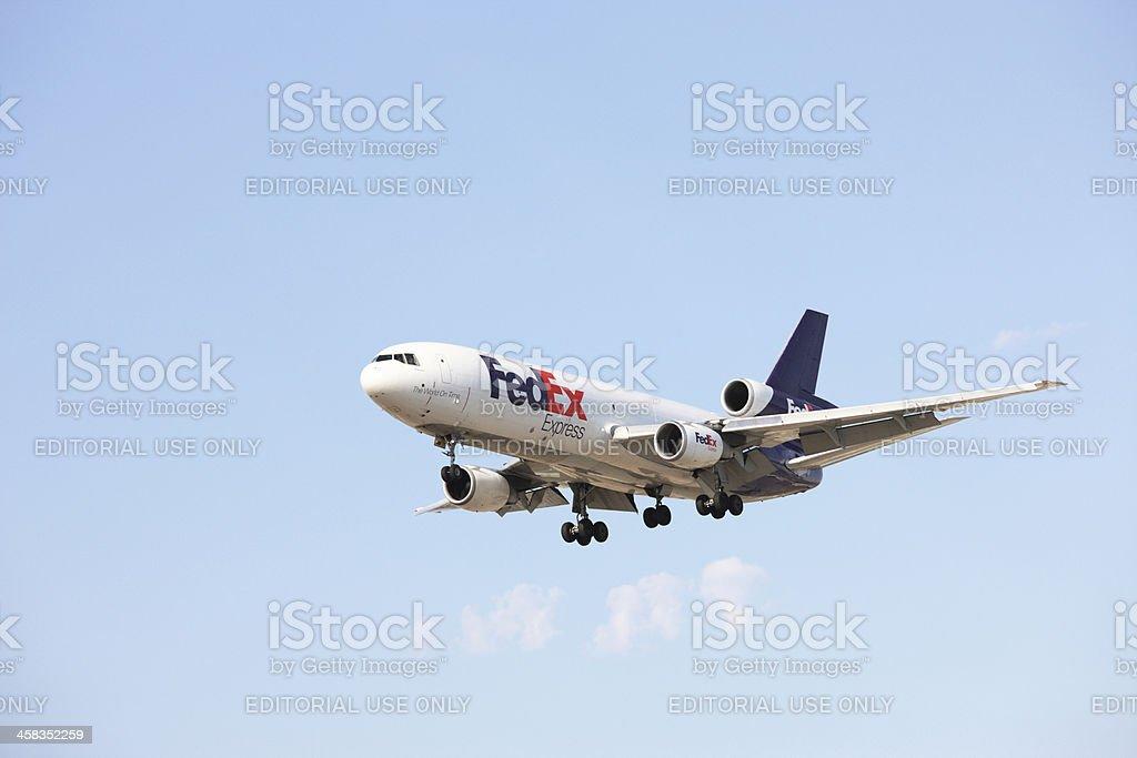 Fedex Federal Express Cargo Jet stock photo