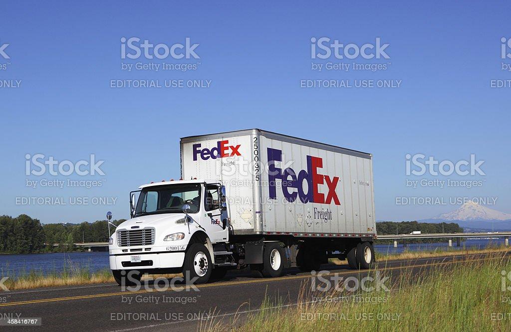 FedEx Ground Truck stock photo