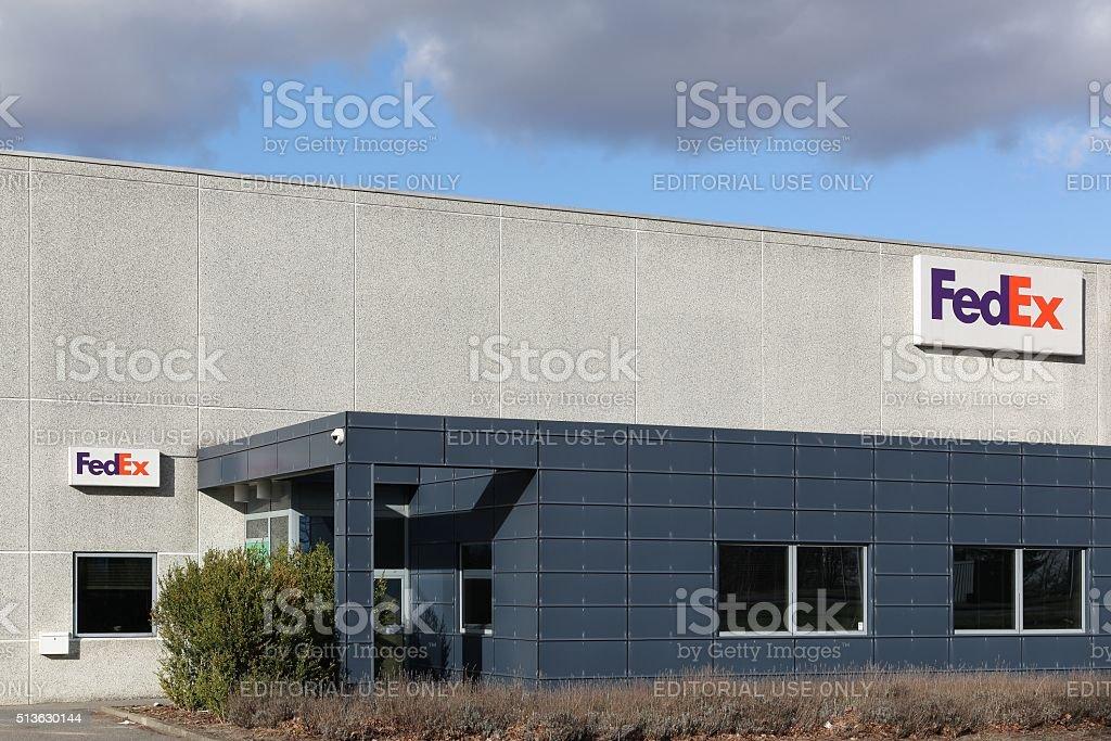 FedEx logistic center stock photo