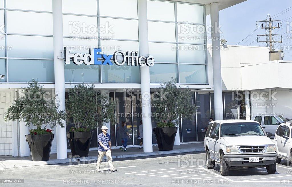 Fedex Office entrance. stock photo