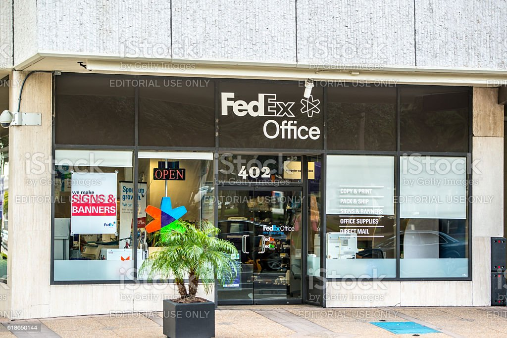 FedEx Office in Tampa downtown, Florida, USA stock photo