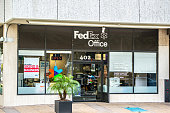 FedEx Office in Tampa downtown, Florida, USA