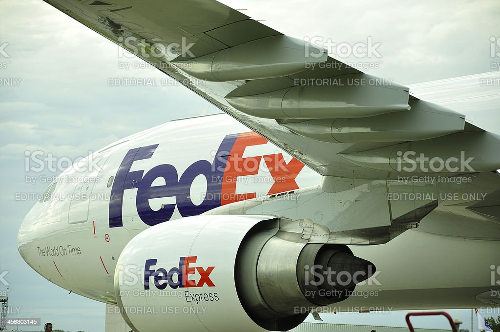 FedEx plane stock photo