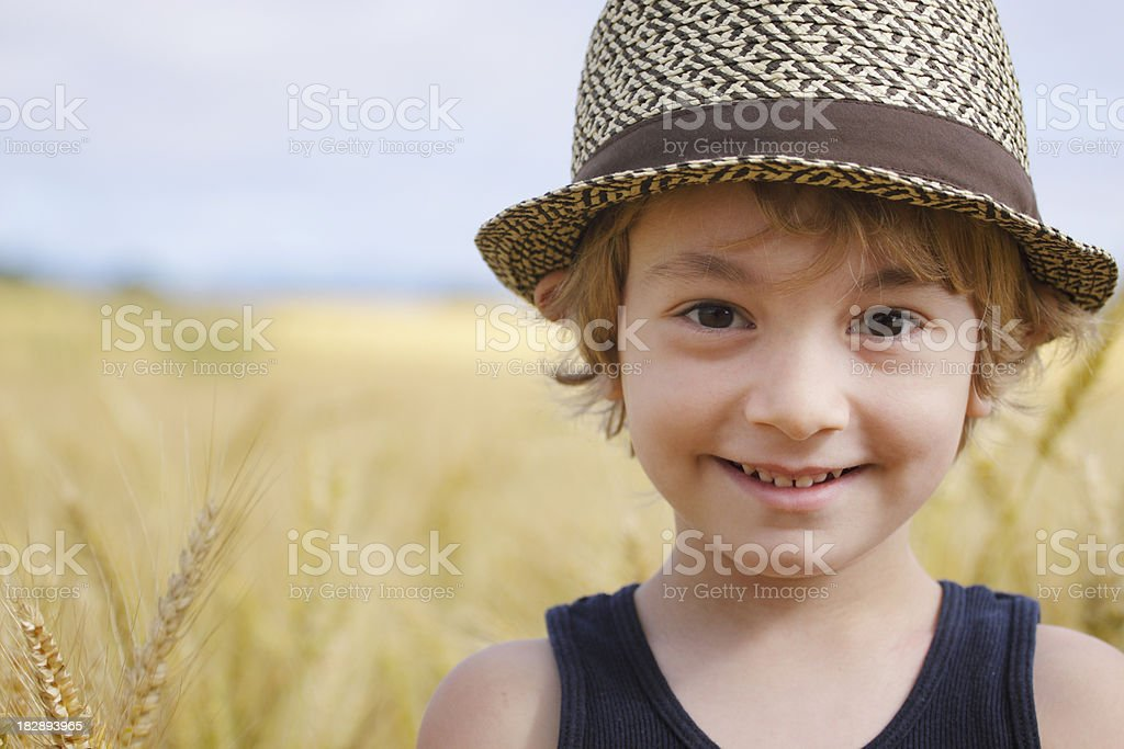 Fedora Boy stock photo
