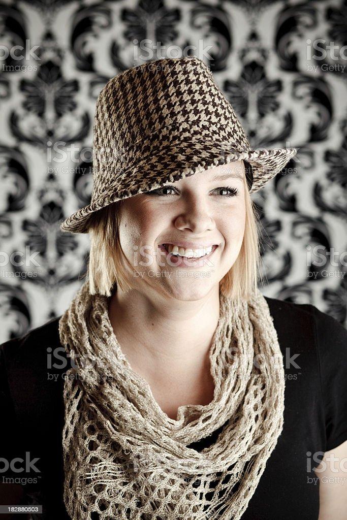 Fedora Girl stock photo