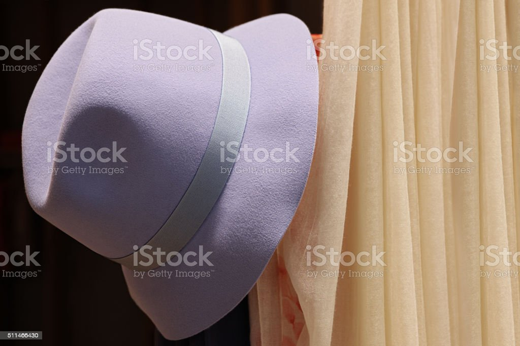 Fedora Hat Felt Bowler Womens Fashion stock photo