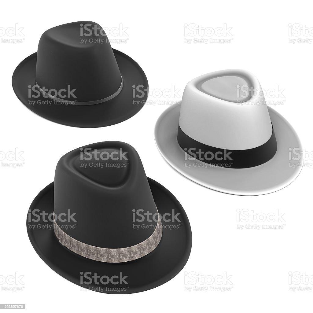 fedora hats stock photo