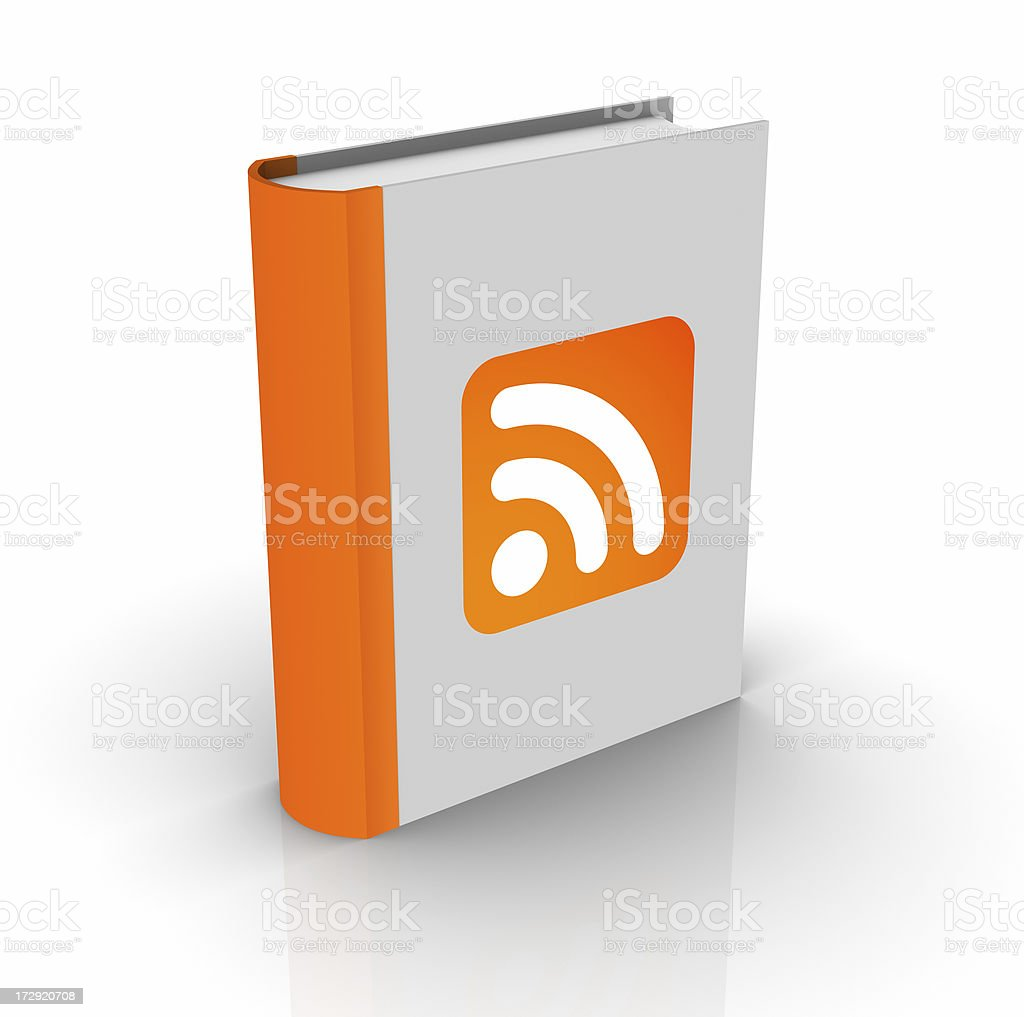 RSS feed book royalty-free stock photo