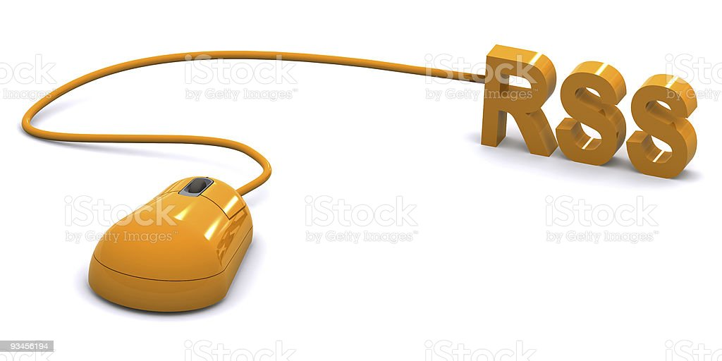 RSS Feed Concept stock photo