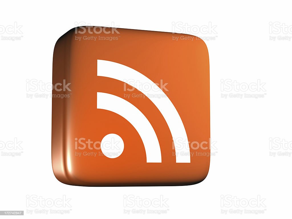 RSS Feed Icon - From Side royalty-free stock photo
