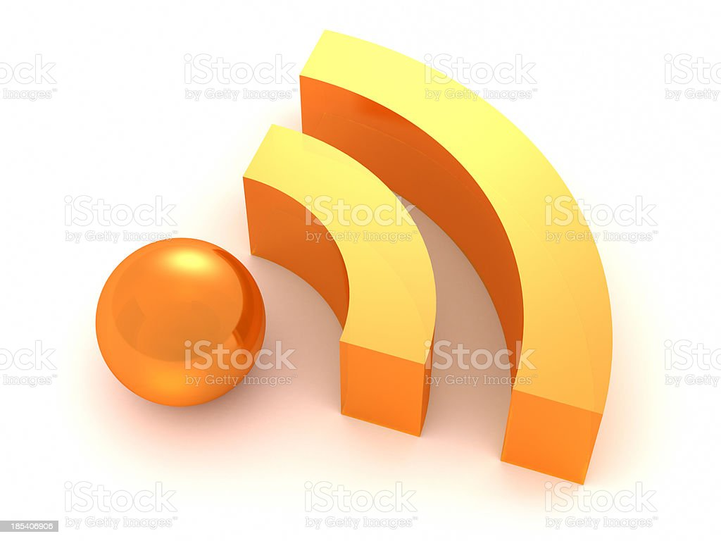 RSS Feed icon stock photo