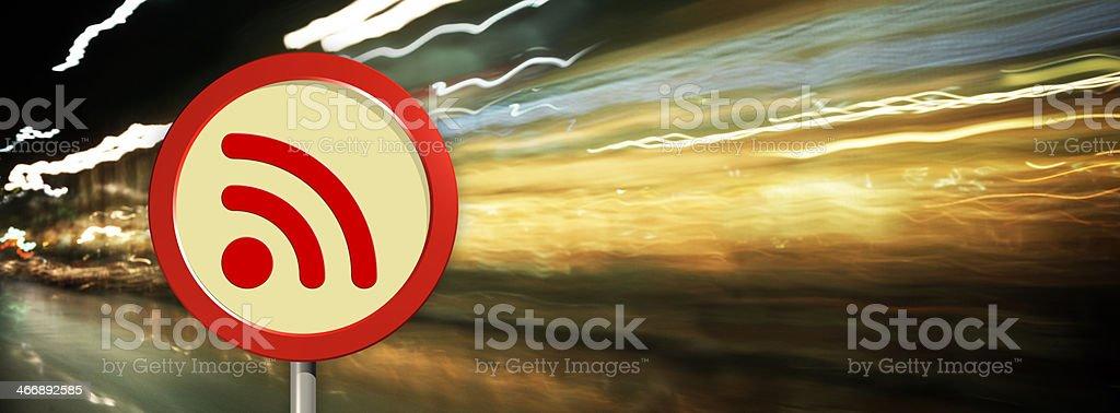 RSS Feed Symbol royalty-free stock photo