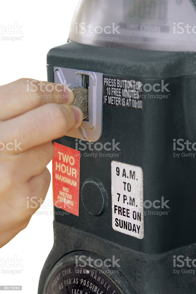 Feed The Meter royalty-free stock photo