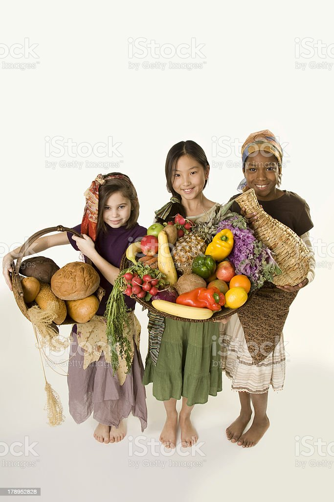 Feed the World Series Breads Fruit Vegetables and Clean Water royalty-free stock photo