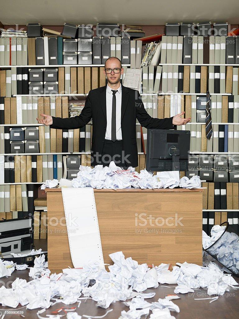 Feed up Businessman stock photo