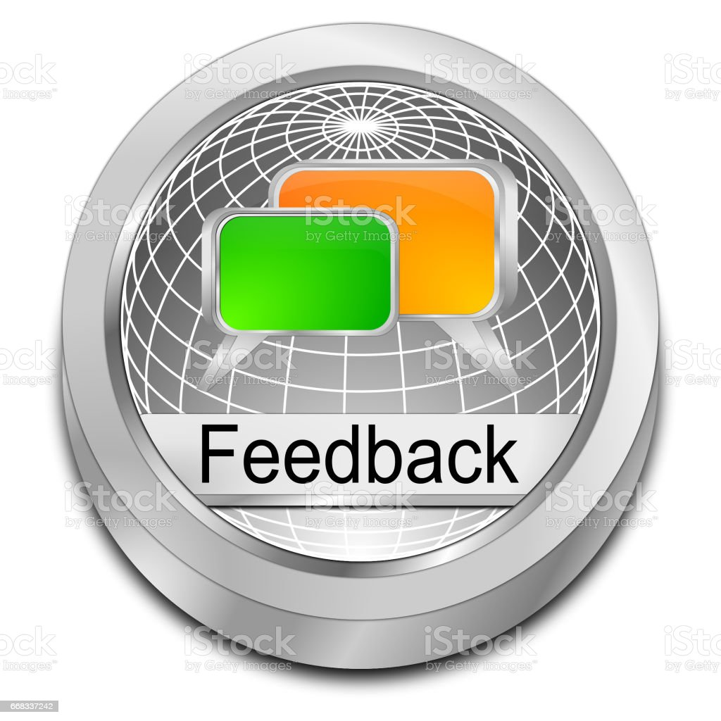 Feedback button - 3D illustration stock photo