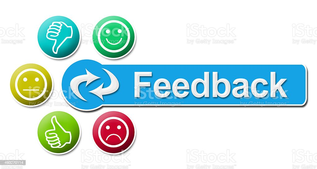 Feedback Circular Colorful Elements stock photo
