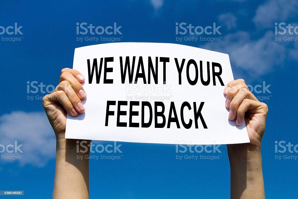 feedback concept stock photo