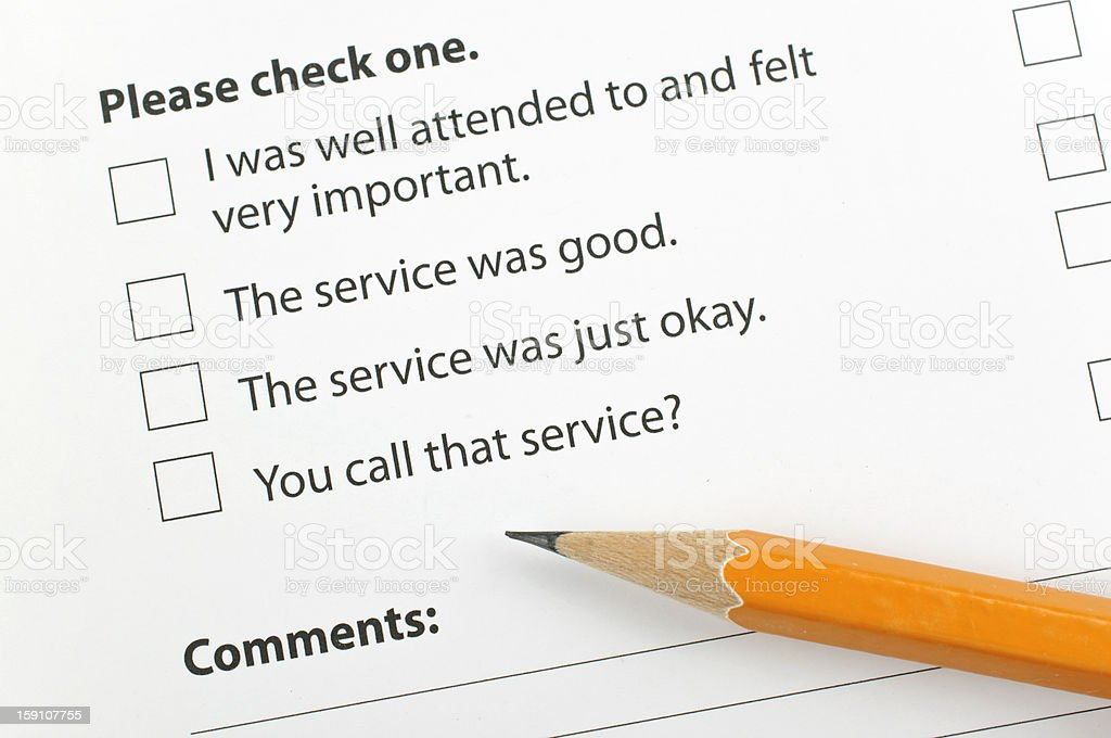 Feedback form with checkboxes royalty-free stock photo