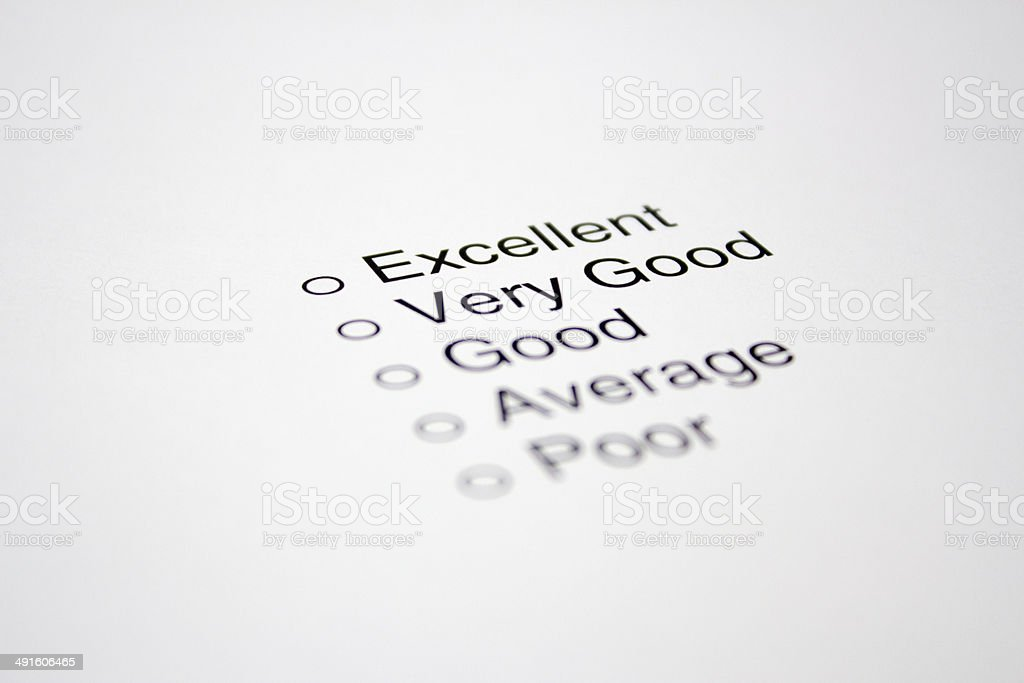 Feedback Questionnaire stock photo