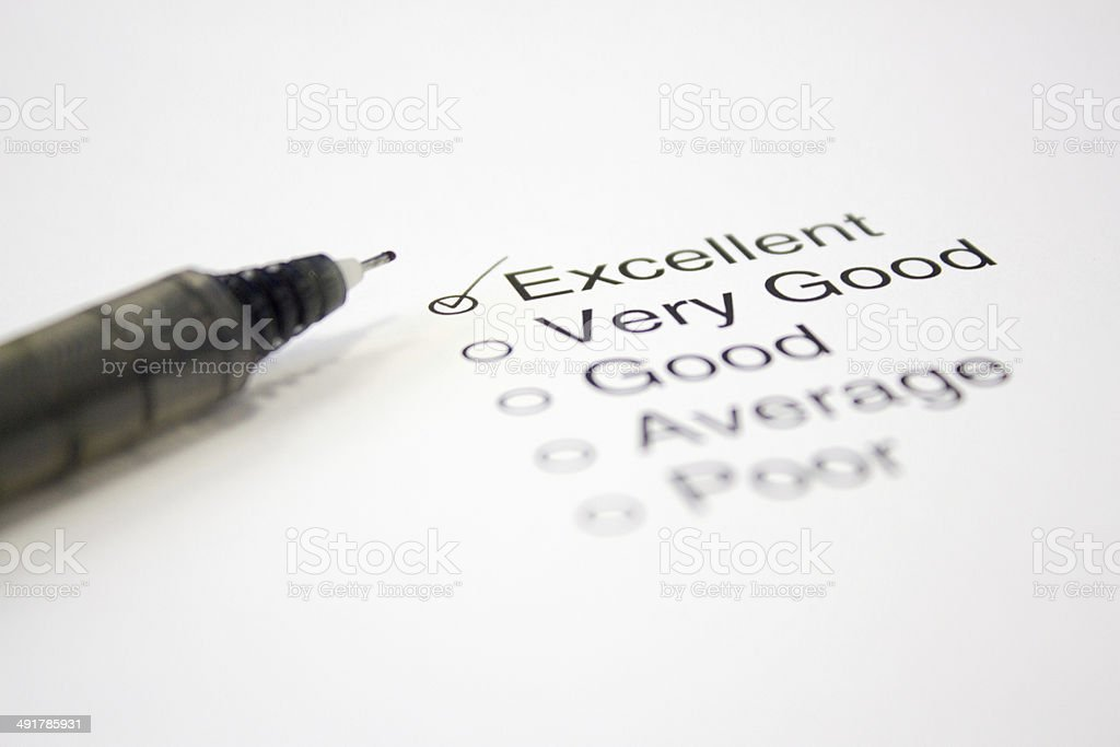Feedback Questionnaire royalty-free stock photo