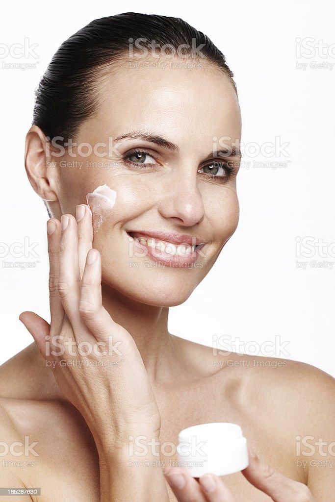 Feeding my skin royalty-free stock photo