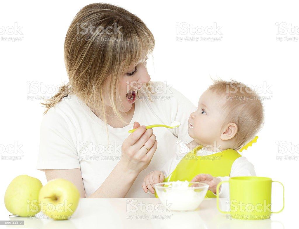 Feeding of  child royalty-free stock photo