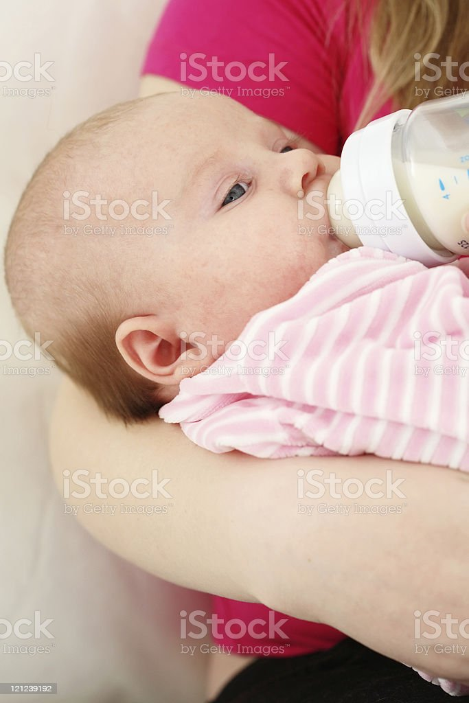Feeding of the chest baby royalty-free stock photo