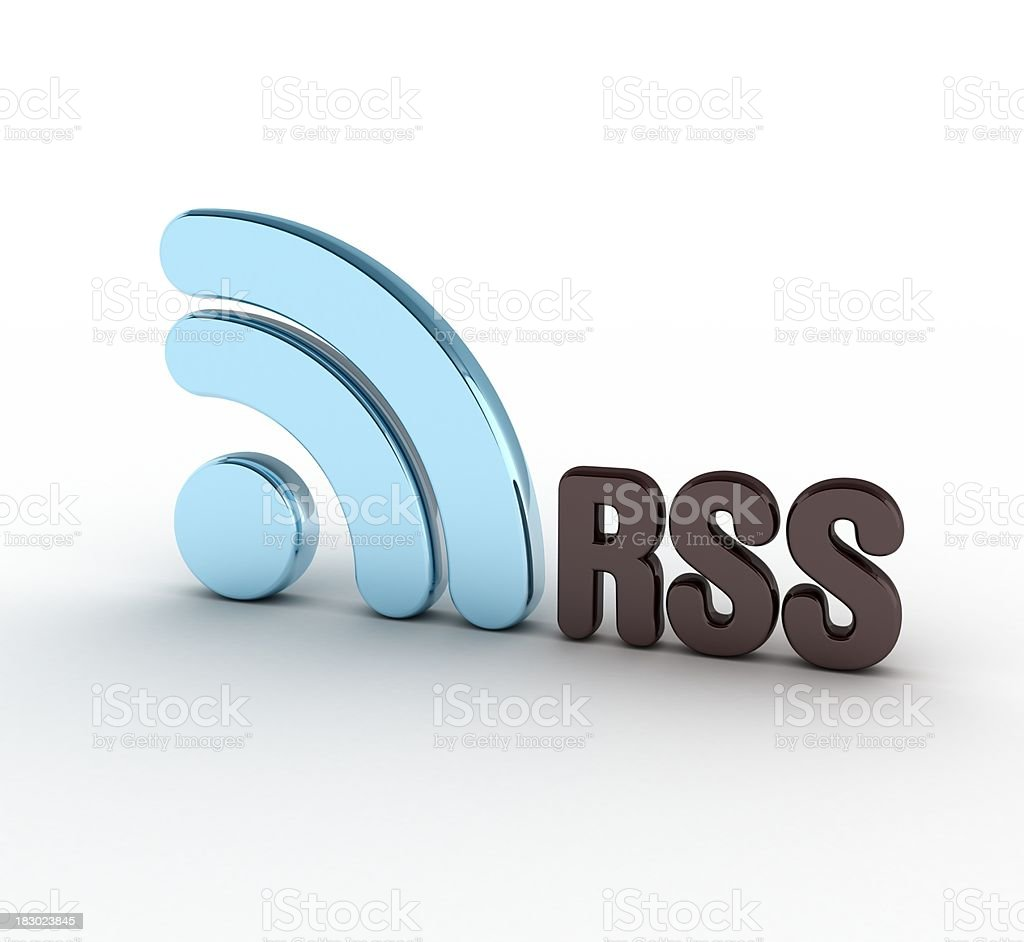 RSS feeds symbol stock photo