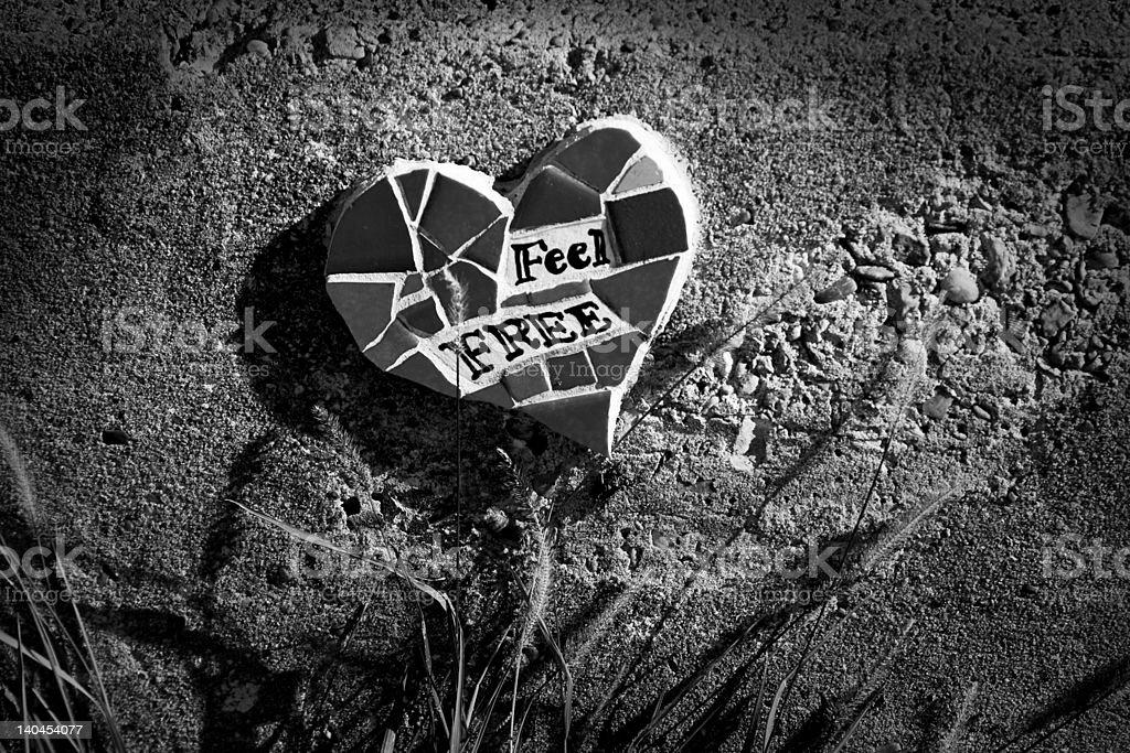 Feel free (Street Art) stock photo