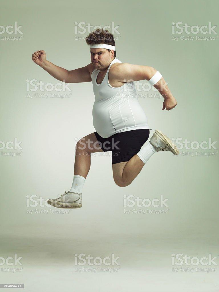 I feel in shape already stock photo